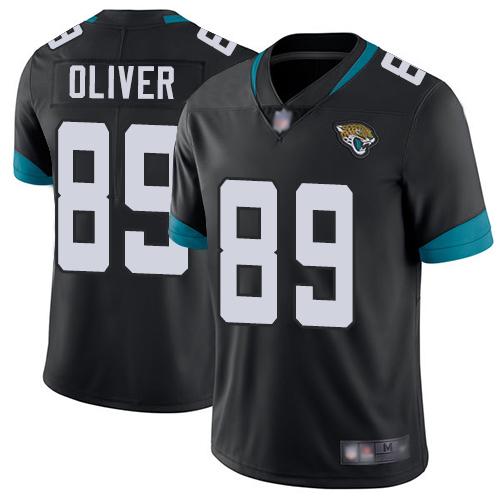 Jaguars #89 Josh Oliver Black Team Color Men's Stitched Football Vapor Untouchable Limited Jersey