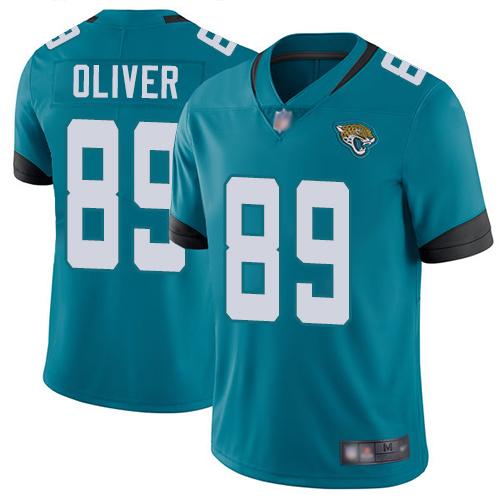 Jaguars #89 Josh Oliver Teal Green Alternate Men's Stitched Football Vapor Untouchable Limited Jersey
