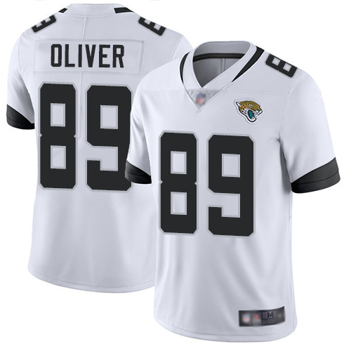 Jaguars #89 Josh Oliver White Men's Stitched Football Vapor Untouchable Limited Jersey