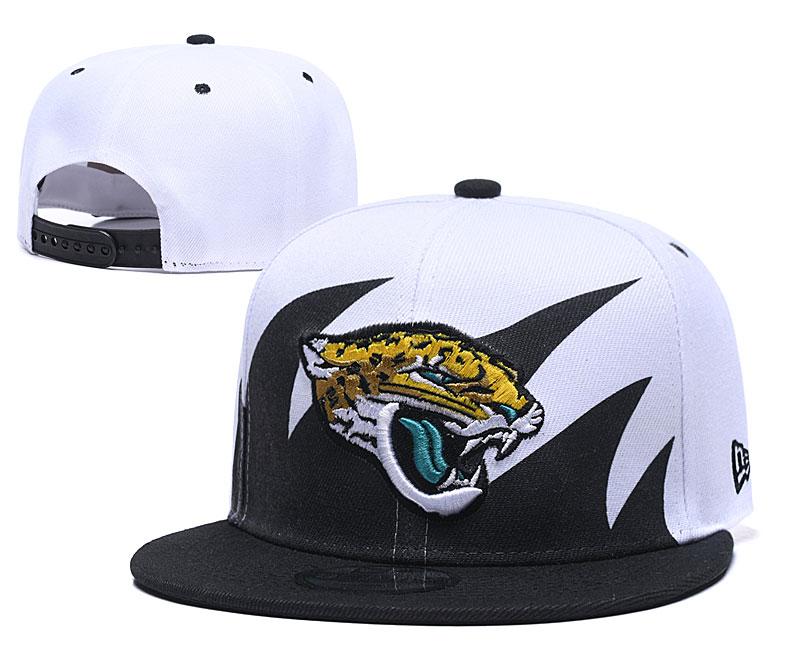 Jaguars Fresh Logo White Black Adjustable Hat GS