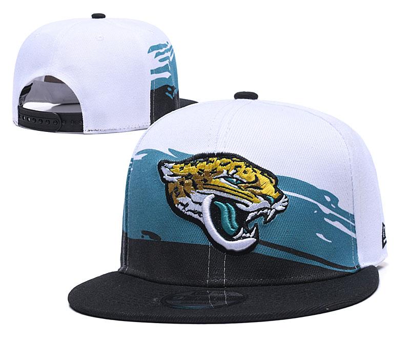 Jaguars Team Logo White Black Adjustable Hat GS