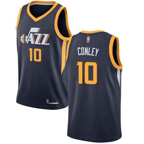 Jazz #10 Mike Conley Navy Basketball Swingman Icon Edition Jersey