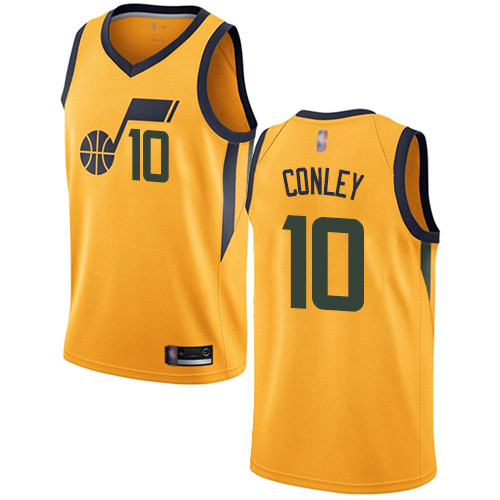 Jazz #10 Mike Conley Yellow Basketball Swingman Statement Edition Jersey