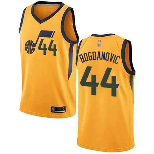 Jazz #44 Bojan Bogdanovic Yellow Basketball Swingman Statement Edition Jersey