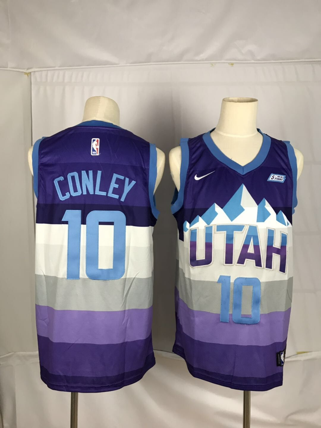 Jazz 10 Mike Conley Purple City Edition Nike Swingman Jersey