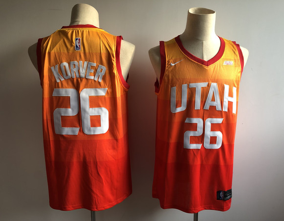 Jazz 25 Kyle Korver Orange 2018-19 City Edition Nike Swingman Jersey