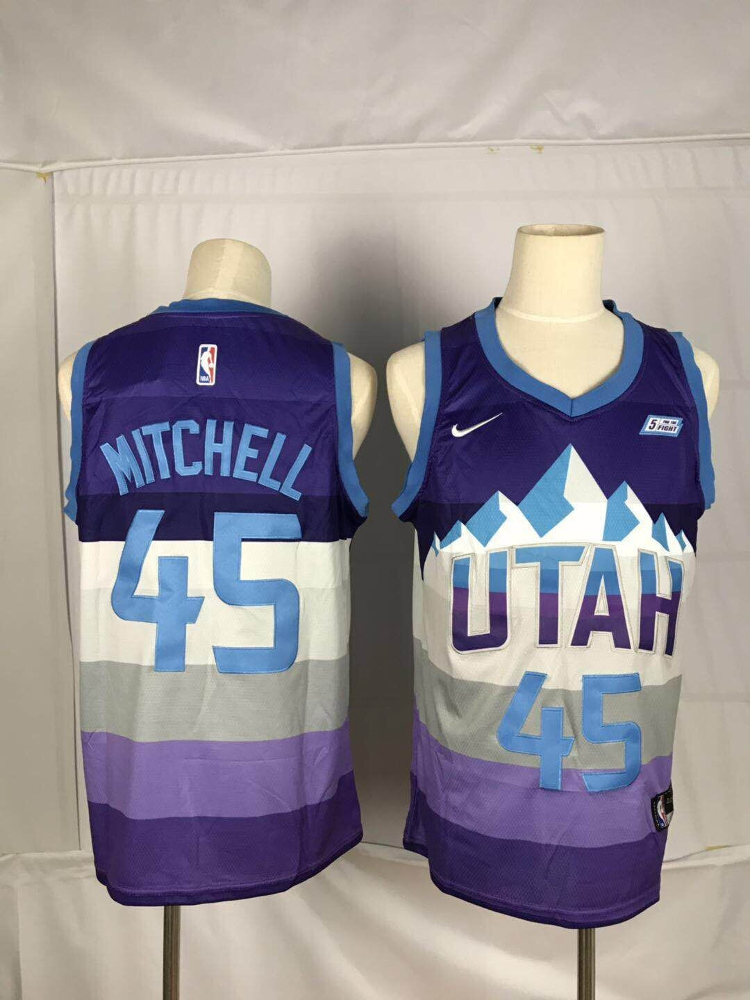 Jazz 45 Donovan Mitchell Purple City Edition Nike Swingman Jersey