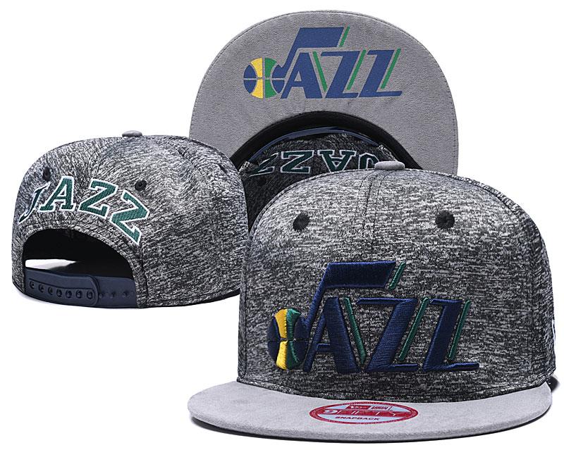 Jazz Team Logo Gray Adjustable Hat TX