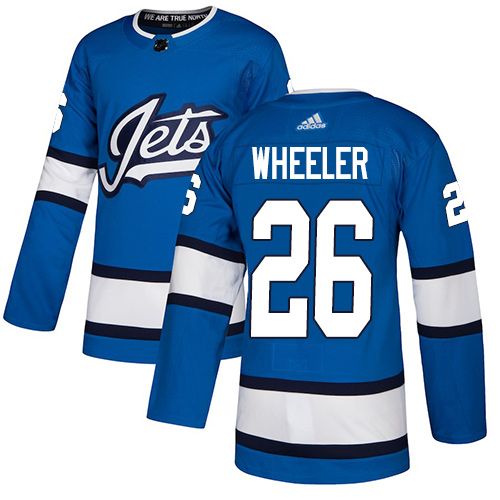 Jets #26 Blake Wheeler Blue Alternate Authentic Stitched Hockey Jersey