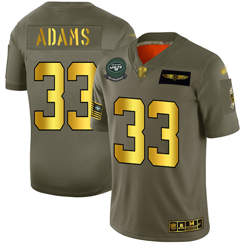 Jets #33 Jamal Adams Camo Gold Men's Stitched Football Limited 2019 Salute To Service Jersey