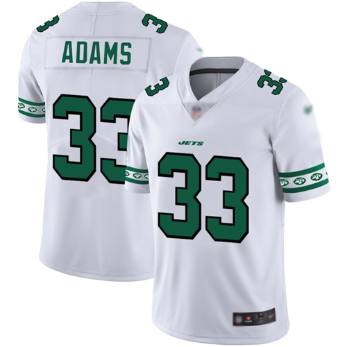 Jets #33 Jamal Adams White Men's Stitched Football Limited Team Logo Fashion Jersey