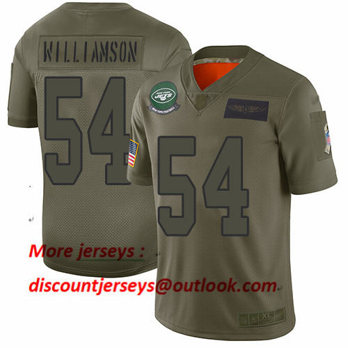 Jets #54 Avery Williamson Camo Men's Stitched Football Limited 2019 Salute To Service Jersey