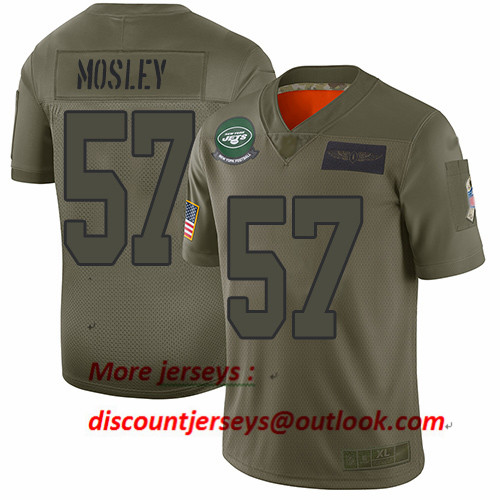 Jets #57 C.J. Mosley Camo Youth Stitched Football Limited 2019 Salute to Service Jersey