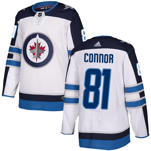 Jets #81 Kyle Connor White Road Authentic Stitched Hockey Jersey