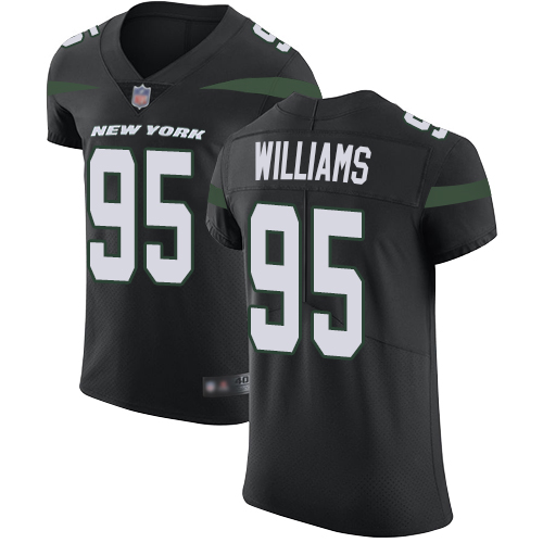 Jets #95 Quinnen Williams Black Alternate Men's Stitched Football Vapor Untouchable Elite Jersey