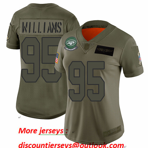 Jets #95 Quinnen Williams Camo Women's Stitched Football Limited 2019 Salute to Service Jersey