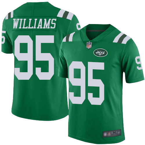 Jets #95 Quinnen Williams Green Men's Stitched Football Limited Rush Jersey