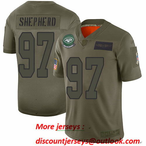 Jets #97 Nathan Shepherd Camo Men's Stitched Football Limited 2019 Salute To Service Jersey