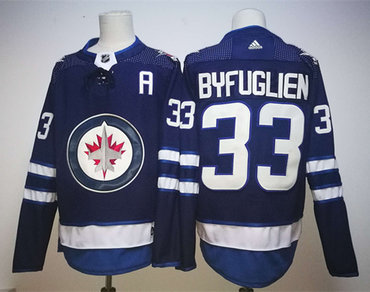 Jets 33 Dustin Byfuglien Blue Adidas Jersey