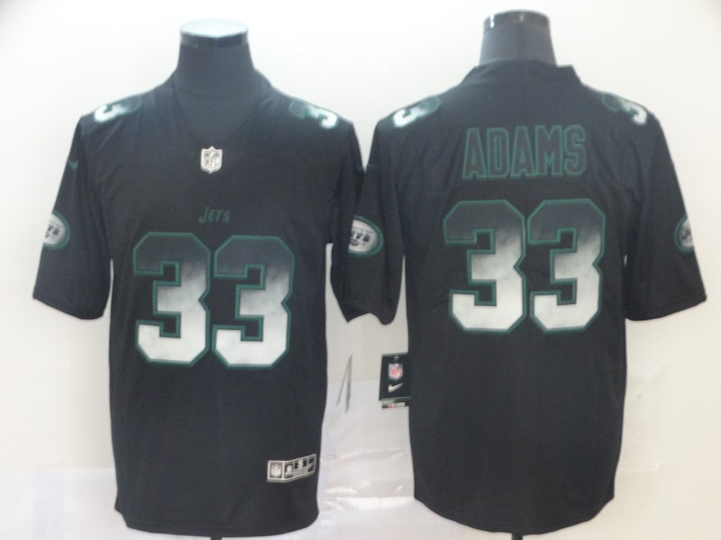 Jets 33 Jamal Adams Black Arch Smoke Vapor Untouchable Limited Jersey