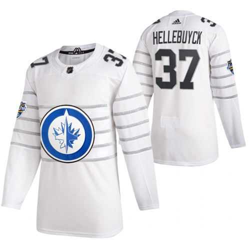 Jets 37 Connor Hellebuyck White 2020 NHL All-Star Game Adidas Jersey