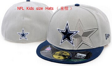 Kids NFL Cowboys fitted grey hat