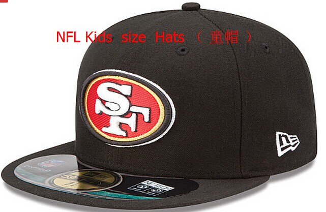 Kids NFL Niners fitted black hat
