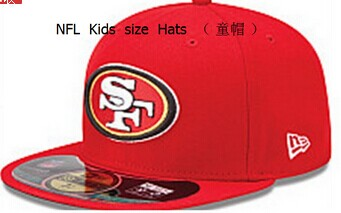 Kids NFL Niners fitted red hat