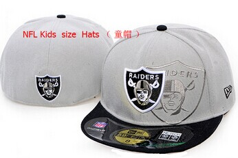 Kids NFL Raiders fitted Grey hat