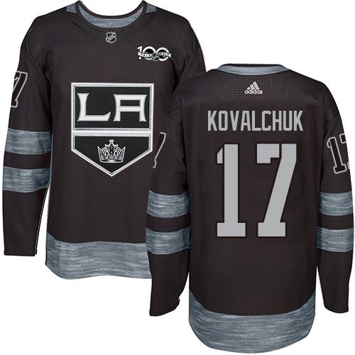 Kings #17 Ilya Kovalchuk Black 1917-2017 100th Anniversary Stitched Hockey Jersey