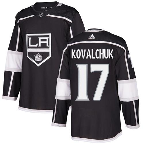 Kings #17 Ilya Kovalchuk Black Home Authentic Stitched Hockey Jersey