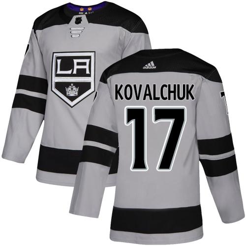 Kings #17 Ilya Kovalchuk Gray Alternate Authentic Stitched Hockey Jersey