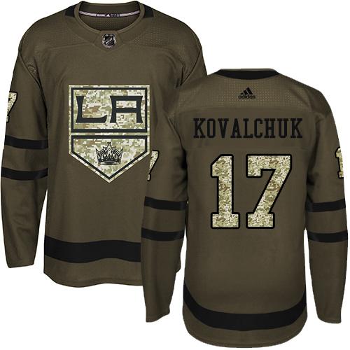 Kings #17 Ilya Kovalchuk Green Salute to Service Stitched Hockey Jersey