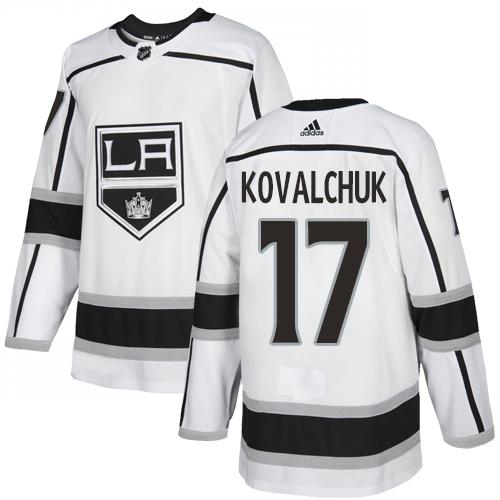 Kings #17 Ilya Kovalchuk White Road Authentic Stitched Hockey Jersey