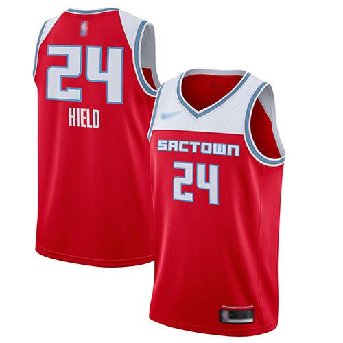 Kings #24 Buddy Hield Red Basketball Swingman City Edition 2019 20 Jersey