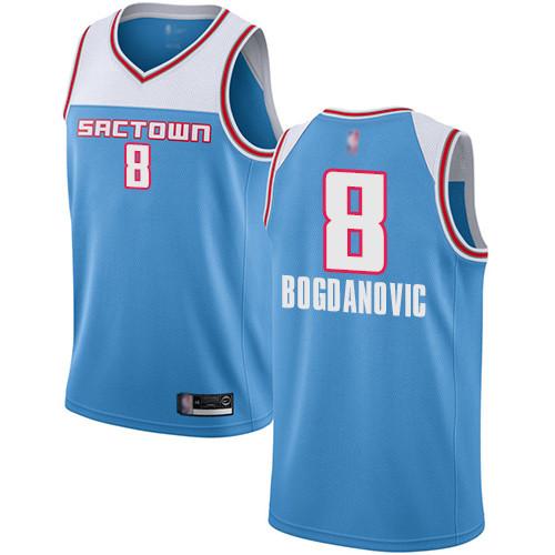 Kings #8 Bogdan Bogdanovic Blue Basketball Swingman City Edition 2018 19 Jersey