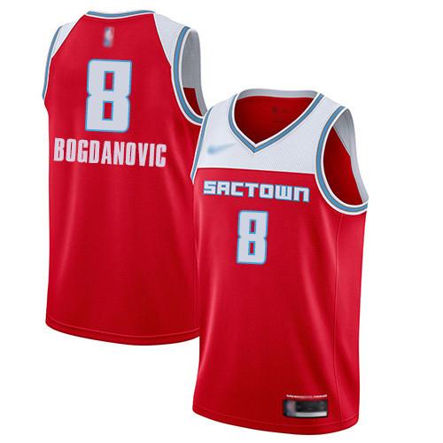 Kings #8 Bogdan Bogdanovic Red Basketball Swingman City Edition 2019 20 Jersey