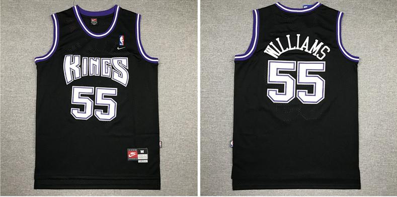 Kings 55 Jason Williams Black Nike Swingman Jersey