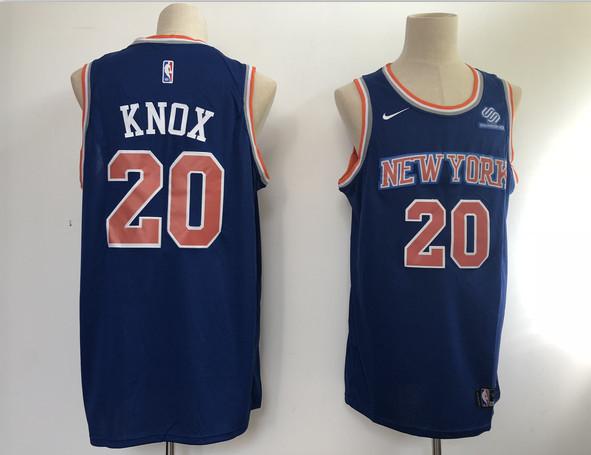 Knicks 20 Kevin Knox Blue Nike Swingman Jersey