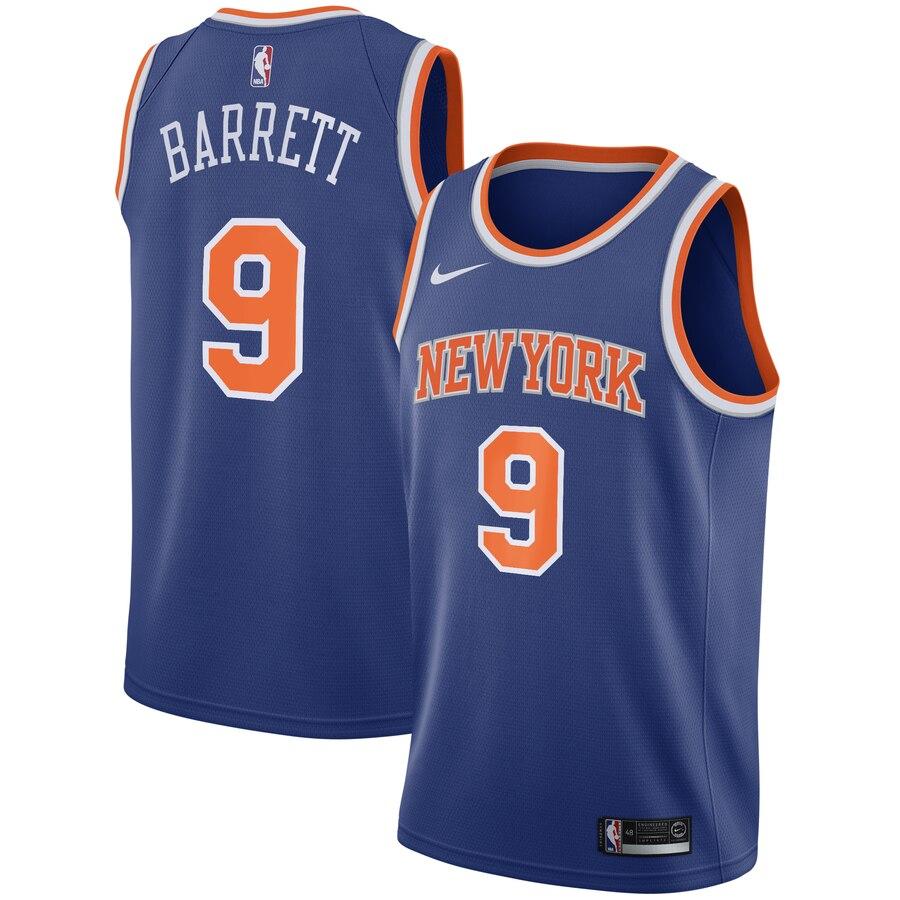 Knicks 9 R.J. Barrett Royal 2019 NBA Draft First Round Pick Nike Swingman Jersey