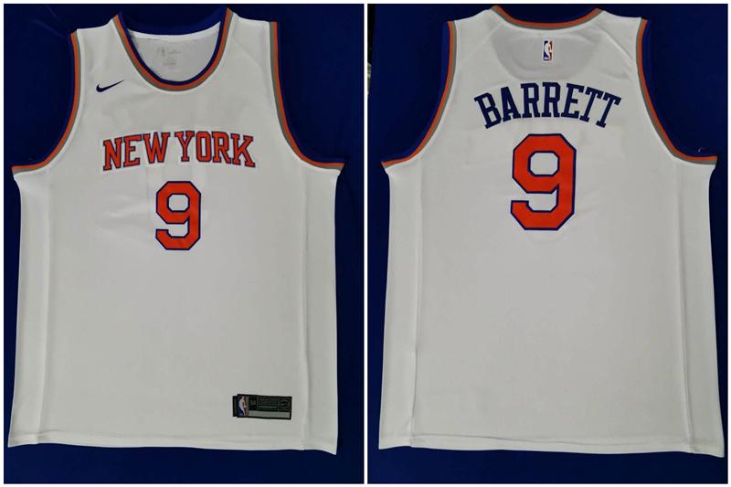 Knicks 9 R.J. Barrett White 2019 NBA Draft First Round Pick Nike Swingman Jersey