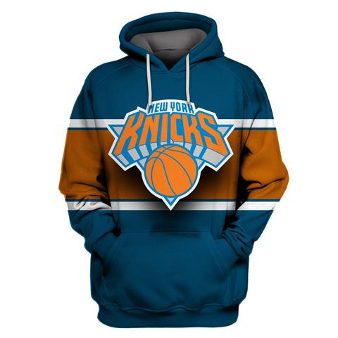 Knicks Blue All Stitched Hooded Sweatshirt