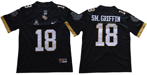 Knights #18 Shaquem Griffin Black Limited Stitched NCAA Jersey