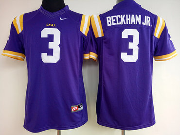 LSU Tigers 3 Odell Beckham Jr Purple College Football Jersey