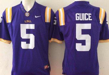 LSU Tigers 5 Derrius Guice Purple College Football Jersey