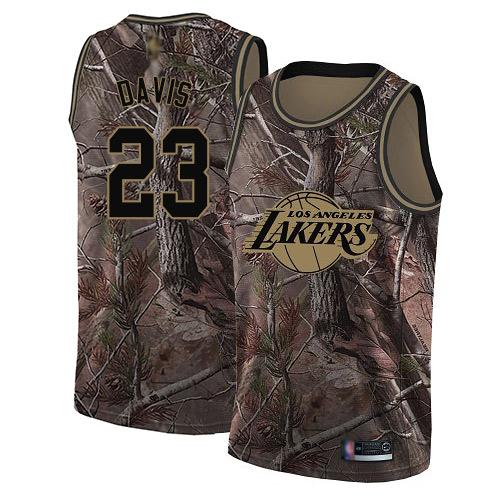 Lakers #23 Anthony Davis Camo Basketball Swingman Realtree Collection Jersey