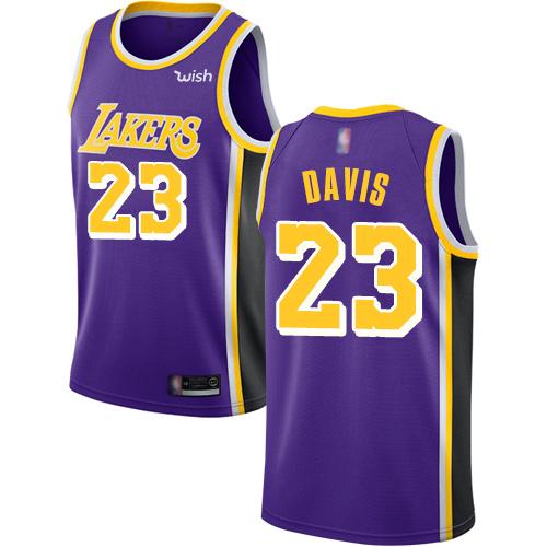 Lakers #23 Anthony Davis Purple Basketball Swingman Statement Edition Jersey