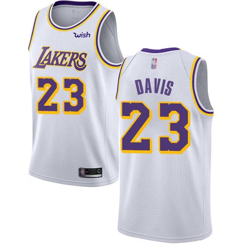 Lakers #23 Anthony Davis White Basketball Swingman Association Edition Jersey