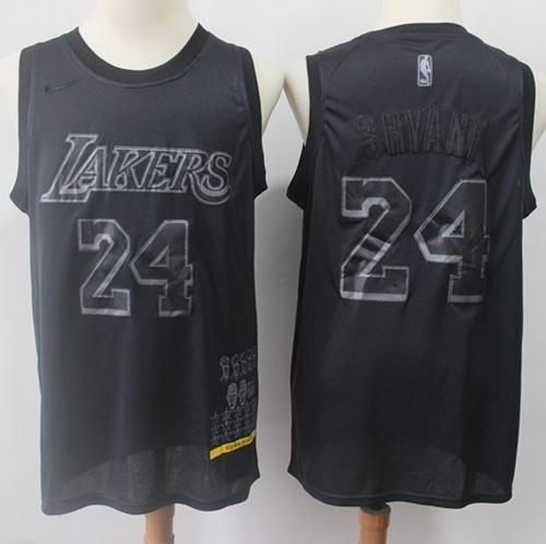 Lakers #24 Kobe Bryant Black Basketball MVP Swingman Jersey