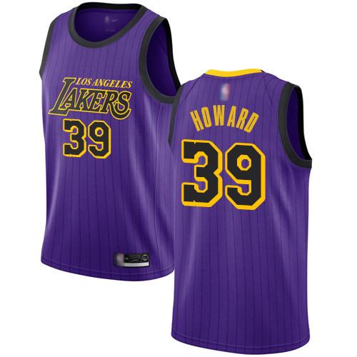 Lakers #39 Dwight Howard Purple Basketball Swingman City Edition 2018 19 Jersey